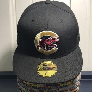 51672e9f901 New Era Accessories - Chicago Cubs Gold and Maroon 59Fifty Hat